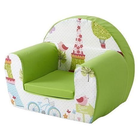 Ready Steady Cama para niños sillón de Espuma, París: Amazon ...