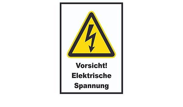 HB_Druck Cartel de tensión eléctrica con impresión de HB, A1 ...
