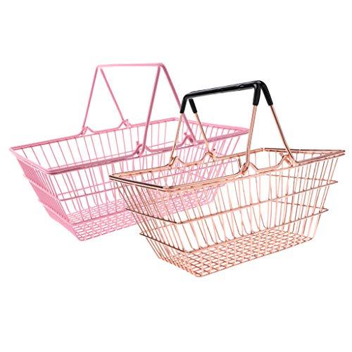 kesoto 2pcs Supermercado De La Tienda De Comestibles Cesta Supermercado Modo Utilidad Utilidad Juguetes De Almacenamiento
