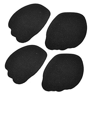 eDealMax seora Heels Parte delantera del Pie delantero medias plantillas Zapatos 2 Pares de ratones Negros