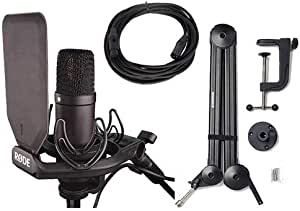 Rode NT1 Condenser Microphone with Boom Arm and Cable