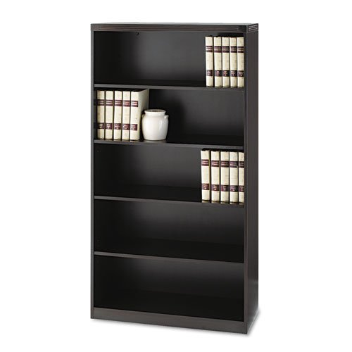 Mayline Aberdeen Series Laminate 5-Shelf Bookcase, 36w x 15d x 68¾h, Mocha - BMC-MLN AB5S36LDC