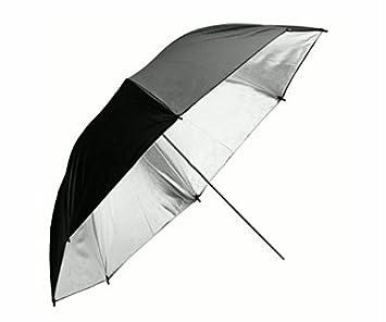 Paraguas grande para hombre y mujer, 135 cm, Anti-viento doble, color negro y plateado: Amazon.es: Equipaje