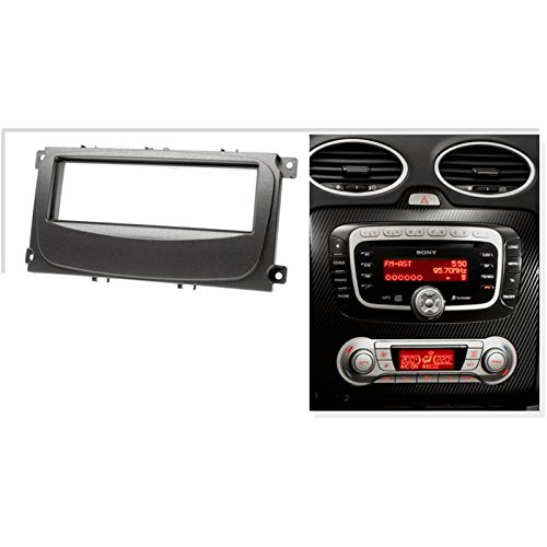 on sale KIT montage autoradio Façade Cadre de radio 1 DIN FORD Mondeo / Focus / S-Max / Galaxy gris