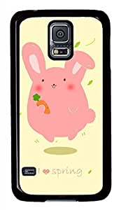 Pink Rabbit Black Hard Case Cover Skin For Samsung Galaxy S5 I9600 hjbrhga1544