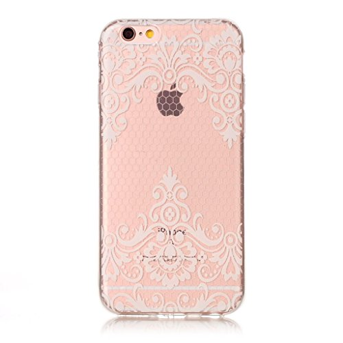 iPhone 6 Plus / 6S Plus Coque,Motif blanc Premium Gel TPU Souple Silicone Transparent Clair Bumper Protection Housse Arrière Étui Pour Apple iPhone 6 Plus / 6S Plus + Deux cadeau