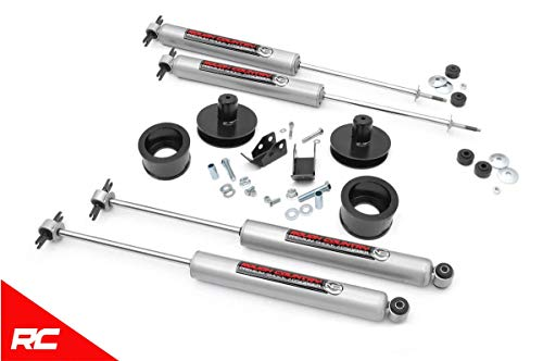 "Rough Country 2"" Lift Kit Compatible w/ 1997-2006 Jeep Wrangler TJ LJ w/ N3 Shocks Suspension System 65830"