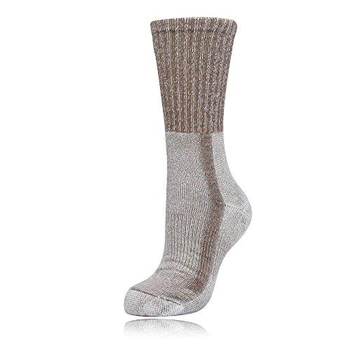 Thorlo Men's Coolmax Light Hiker Crew Sock (US(M) 5.5-8.5, Walnut/Hthr)