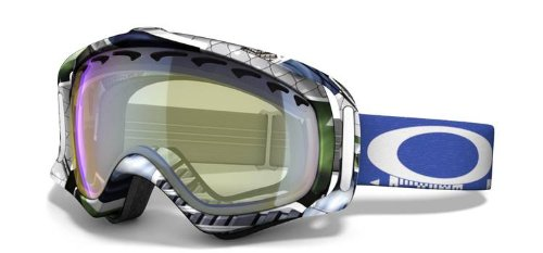 Oakley JP Auclair Crowbar Snow Goggles (White Frame/High Intensity Yellow Iridium Lens), Outdoor Stuffs
