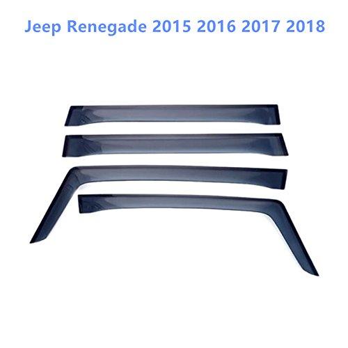HIGH FLYING para JP Renegade 2015/2016/2017/2018/Exterieur deflectores de Viento 4/Unidades pl/ástico
