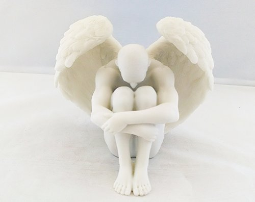 5.5 Inch Nude Sexy Male Angel Statue Figurine Erotic Naked Man Sculpture Figure