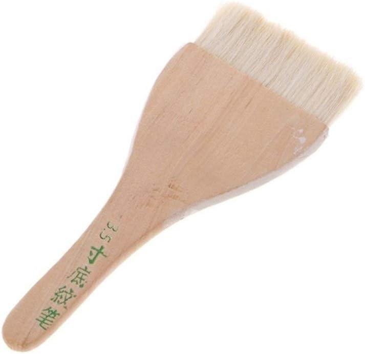Fengdp Cepillo de Pintura Suministros manija Arte de la Cabra de Pelo acrílico Acuarela Aceite de Madera Pincel Seis tamaños (Color : 6)