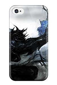 wings blue apples Anime Pop Culture Hard Plastic iPhone 4/4s cases