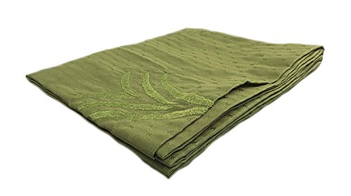 Koni Bed Scarf, Tropical Floral Design, Kiwi Green, King, 100x18 in. by Koni