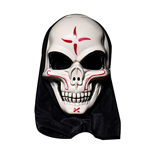Lamia Cloak - Halloween Skull Vampire Mask Bar Dance Horror Scary Skeleton Soul Prop Demon Devil - Block - (Caribbean Dance Costumes For Kids)