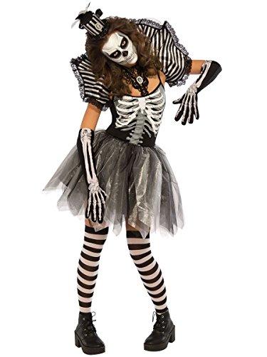 Rubie's Women's Dancing Skeleton Costume, Multi Medium