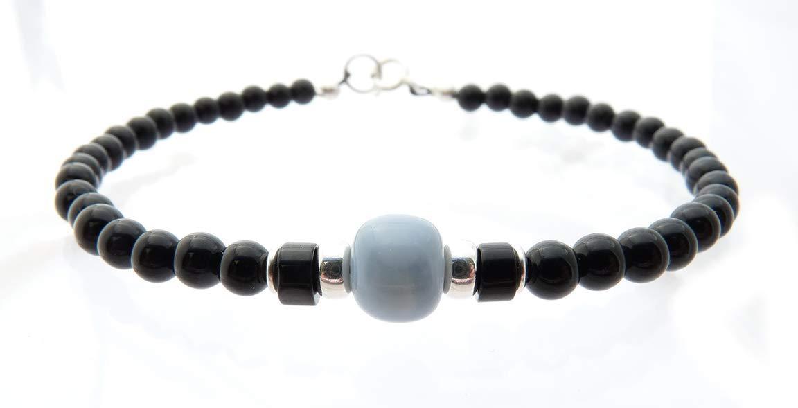 DAMALI Jewels for Gents, Mens Opal October Birthstone Bracelet, Gemstone Beaded Bracelets for Men