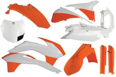 KTM 450 SX-F 2013-2014 Acerbis Full Plastic Kit White Fits
