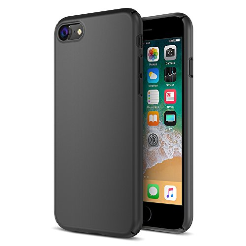 Maxboost iPhone 8 Case, mSnap Series for Apple iPhone 8 (2017)/iPhone 7 [Perfect Fit] [Black] EXTREME Smooth Surface [Scratch Resistant] Matte Coating for Excellent Grip Thin Hard Protective PC Cover