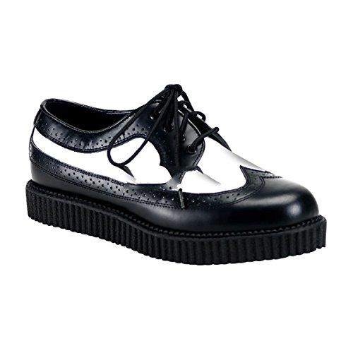 Demonia Creeper-608 - Gothic Punk Industrial Creeper Schuhe 36-46