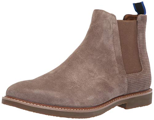 Steve Madden Men's HIGHLYTE Chelsea Boot, Taupe Suede, 11.5 M US ()