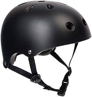 SFR Skateboard/Scooter/Roller/Patins à roulettes Casque de Protection pour équipement de Protection–Noir–Casque BMX, Inliner, Longboard–Skateboard Casque, L/XL 57-59cm .
