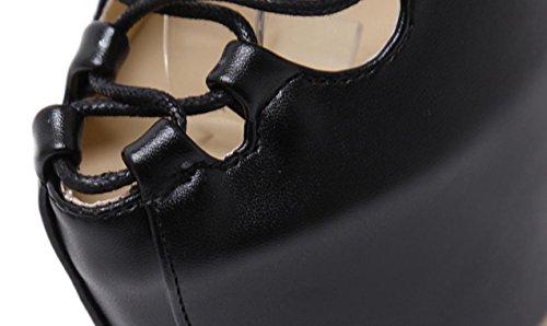 YCMDM DONNE Tie Passerella Ultra Tacchi alti sandali moda scarpe singolo primavera-estate , black , 35