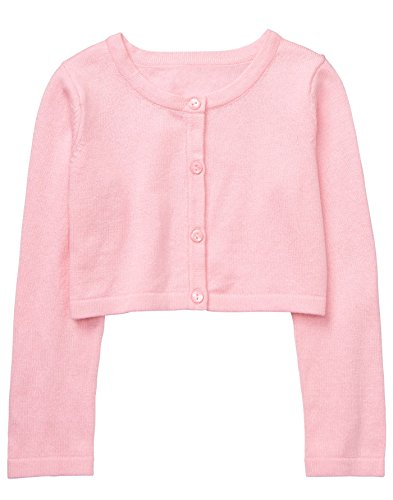Gymboree Baby Girls Long Sleeve Crop Cardigan, Petal Pink, - Cardigan Sweater Gymboree