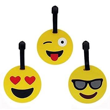 Tootpado Luggage Tag Set Bag Travel Tags Emoji - Pack of 3