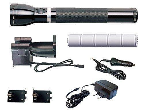 Mag-Lite Mag Charger wiederaufladbare Taschenlampe 240 Lumen inkl. elektronischem Multifunktionsschalter und NiMH-Akku, RE4019