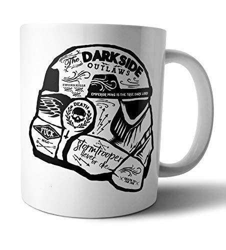 Caneca de Porcelana Branca Star Wars Storm Trooper Live Comics - Branca