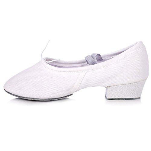 Mit Sport Shoes Women's Bauchtanz weiß Ballet WXMDDN Lehrer Schuhe Canvas Schuhe Schuhe Einem Boden Tanz Schuhe Dance weichen Weißen Tuch BRwWq