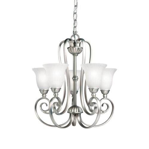 1825NI Willowmore Chandelier Brushed Nickel