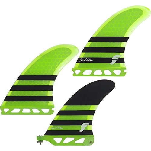 Futures Collin Mcphillips 2+1 Thruster Set - Neon Green / Black by Futures Fins