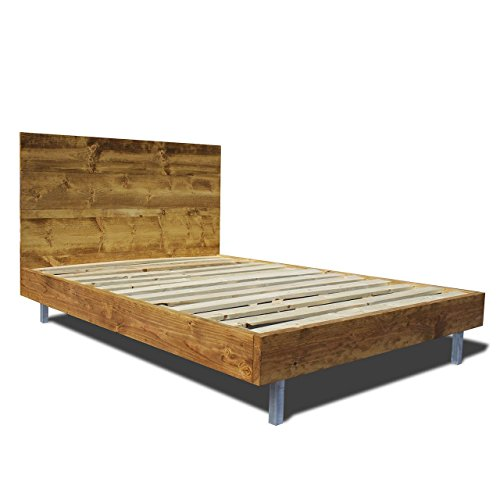 Modern Bed Frame and Headboard Set with Aluminum Legs / Clean and sleek / Sophisticated and Natural