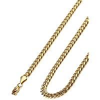 "Collar de cadena masculina de acero inoxidable Jstyle para hombres, 8.5-30 ""pulgadas, 6 mm de ancho"