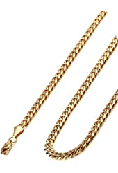 "Jstyle Stainless Steel Male Chain Necklace for Men, 8.5-30"" Inch,6mm Wide"
