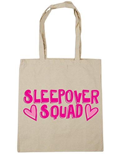 10 Natural Sleepover Bag litres squad Gym Shopping x38cm 42cm Beach Tote HippoWarehouse zqPwOdxac