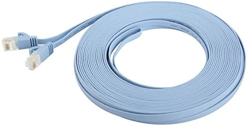 Baby Blue Length Chenyouwen Network Accessories LAN Cable Tools CAT6 Ultra-Thin Flat Ethernet Network LAN Cable 15m
