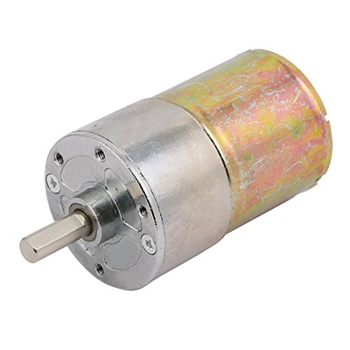 - uxcell 12V High Torque 6mm Dia 190-250RPM Cylindrical Reducer Micro DC Geared Gear Box Electric Motor