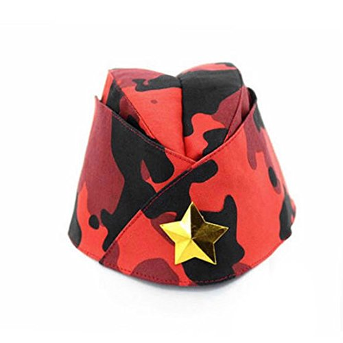 Russian Army Cap Tricorne Green Camo Bonnet Star Logo Women Sailor Military Stage Performance Dance Hats Chinese Boat Caps 18
