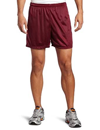 Soffe Men's Nylon Mini-Mesh Short Maroon Small