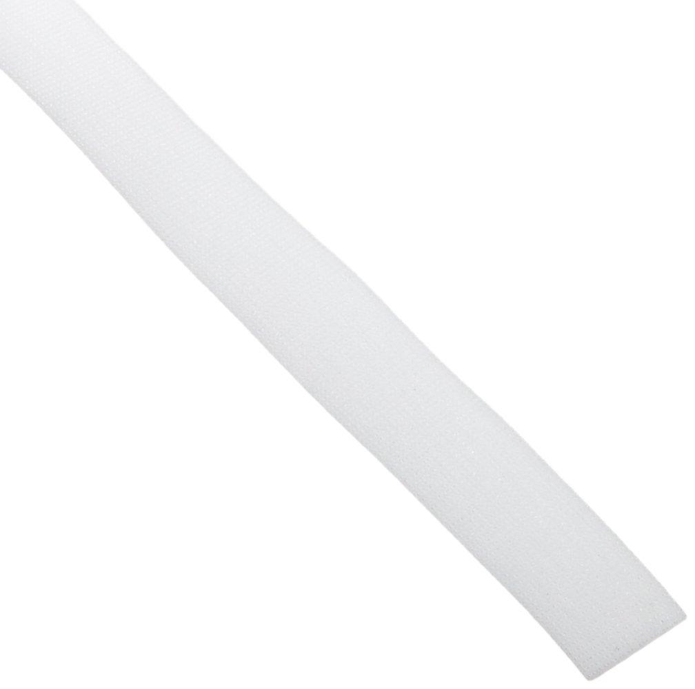 VELCRO 1814-OW-PB/B White Nylon Velcro Onewrap Strap, Hook and Loop, 1'' Wide, 50' Length