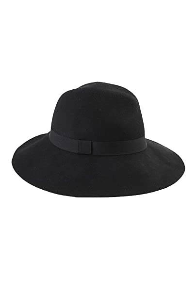 Image Unavailable. Image not available for. Color  August Hats Women s  Adjustable Band Fedora Black Wool b7a0aada13cd