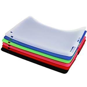 Carcasa de silicona flexible compatible con Smart Cover para iPad 2. Verde