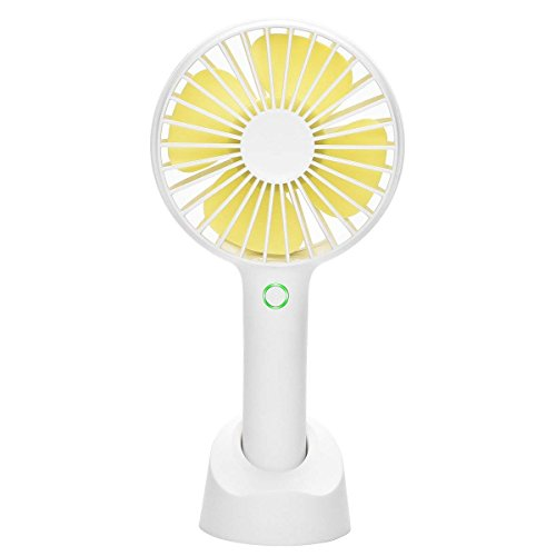 YIHUNION Mini Handheld Fan Portable, Hand held Personal Fan Rechargeable Battery Operated Powered Cooling Desktop Electric Fan with Base, 2500Mah Battery 4 Modes for Home Office Travel Outdoor - Secretary Base