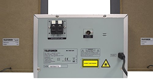 Telefunken MC1001BM Bluetooth-impianto stereo (PLL-tuner, FM-radio, CD/CD-R/CD-RW, MP3, USB, AUX-in, telecomando)