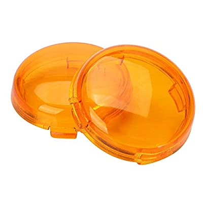 ZYTC Amber Harley Turn Signal Lens Covers Lenses for Harley-Davidson Pack of 2: Automotive