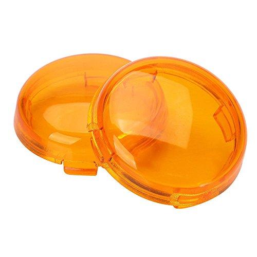 ZYTC Amber Harley Turn Signal Lens Covers Lenses for Harley-Davidson Pack of ()