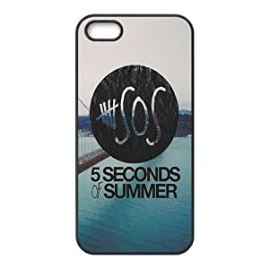 AMAF ? Accessories Custom Design 5 Seconds of Summer 5sos TPU Protective Snap On Case Cover For iPhone 5 5s [ 5 sos ]